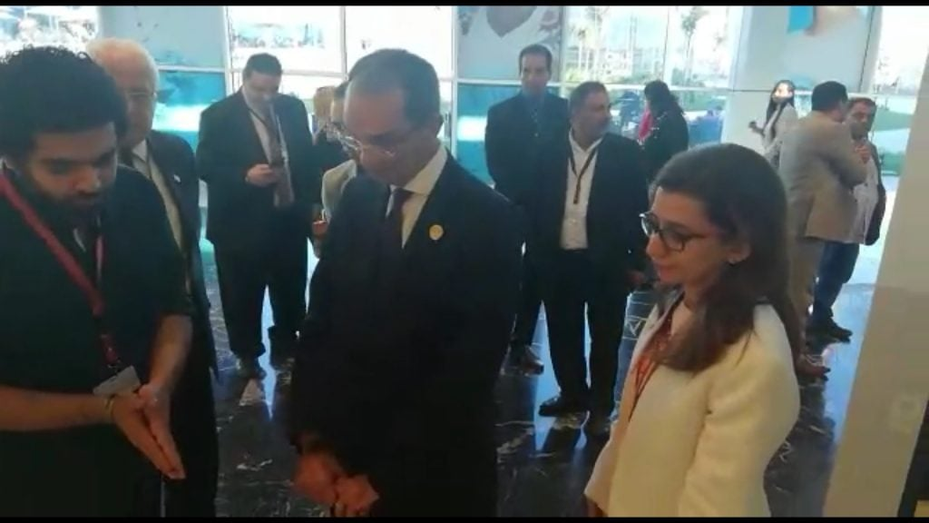 Dr. Amr Talaat, The Egyptian Minister of ICT during his visit to our booth